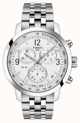 Tissot Prc 200 | Chronograph | weißes Zifferblatt | rostfreier Stahl T1144171103700