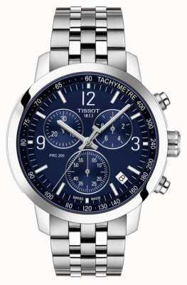 Tissot Prc 200 | Chronograph | blaues Zifferblatt | Edelstahlband T1144171104700