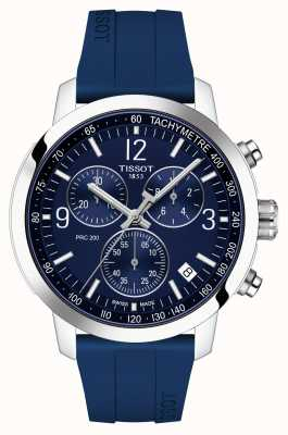 Tissot Prc 200 | Chronograph | blaues Zifferblatt | blaues Kautschukband T1144171704700