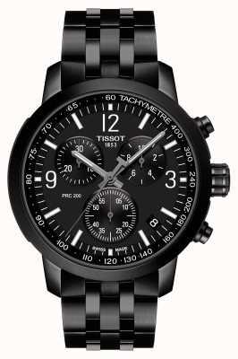 Tissot Prc 200 | Chronograph | schwarzes Zifferblatt | schwarzer pvd stahl T1144173305700