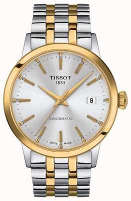 Tissot Swissmatic | silbernes Zifferblatt zweifarbiges Edelstahlarmband T1294072203101