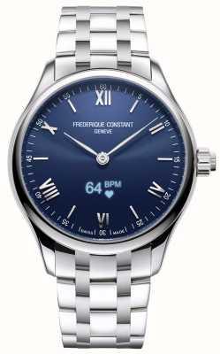 Frederique Constant Herren | Vitalität Smartwatch | blaues Zifferblatt | rostfreier Stahl FC-287N5B6B