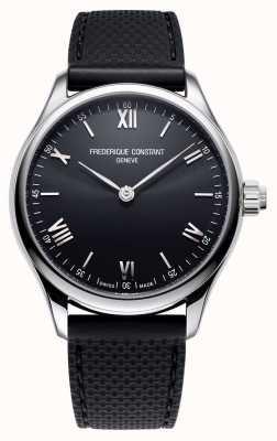 Frederique Constant Herren | Vitalität Smartwatch | schwarzes Zifferblatt | schwarzer Radiergummi FC-287B5B6