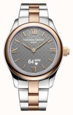 Frederique Constant Frauen | Vitalität Smartwatch | graues Zifferblatt | zweifarbig FC-286BG3B2B