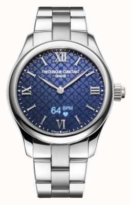 Frederique Constant Frauen | Vitalität Smartwatch | blaues Zifferblatt | rostfreier Stahl FC-286N3B6B