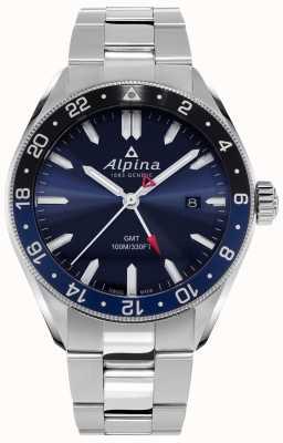 Alpina Alpiner Quarz gmt | blaues Zifferblatt | Edelstahlarmband AL-247NB4E6B