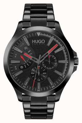 HUGO #Sprung lässig | schwarzes Zifferblatt | schwarzes IP-Armband 1530175
