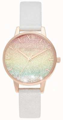 Olivia Burton Regenbogen Glitter wünscht Uhr Midi Zifferblatt OB16EX228