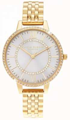 Olivia Burton Wonderland erröten Demi Zifferblatt goldene Uhr OB16WD90