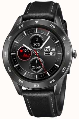 Lotus Smartime | Männer | schwarzes Lederband + freies Armband L50012/3
