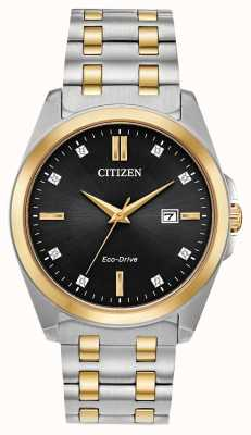Citizen Herren Corso Diamonds Eco-Drive zweifarbige Uhr BM7107-50E