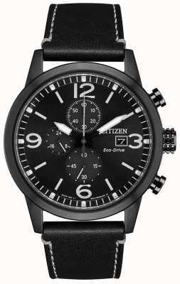 Citizen Herren Sport Chronograph schwarz ip CA0617-29E