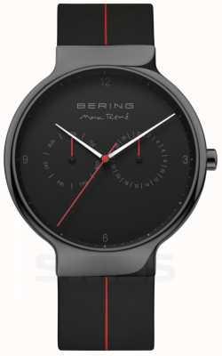 Bering Herren max rene   schwarzes Silikonband   schwarzes Zifferblatt 15542-423