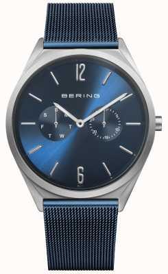 Bering Ultra schlank | blaues Stahlgitterband | blaues Zifferblatt 17140-307