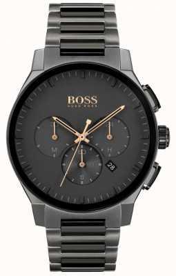 BOSS Herrengipfel | graues IP-Armband aus Edelstahl | graues Zifferblatt 1513814