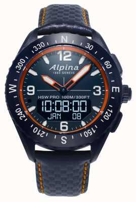 Alpina Alpinerx Smartwatch Marineblau Lederarmband AL-283LNO5NAQ6L