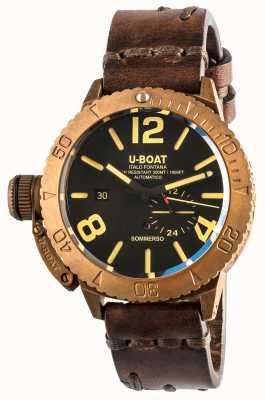 U-Boat Sommerso 46 Bronze automatisches braunes Lederband 8486