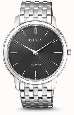 Citizen Ultra dünne schwarze Zifferblattuhr für Herren AR1130-81H