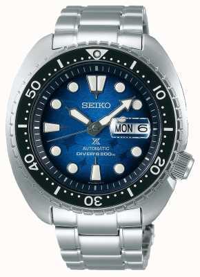 Seiko Männer retten den Ozean | Edelstahlarmband | blaues Zifferblatt SRPE39K1