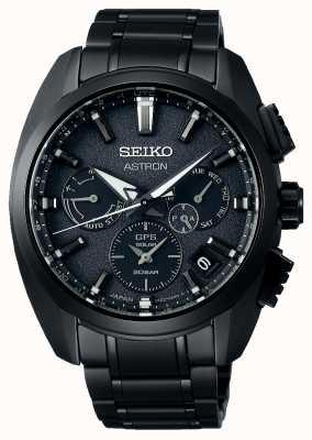 Seiko Astron | schwarzes Zifferblatt | schwarzes Titan | GPS | Chronograph SSH069J1