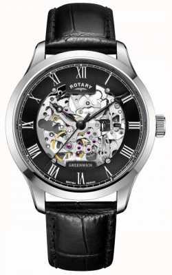 Rotary Herren | Skelett | greenwich | automatische Uhr GS02940/30
