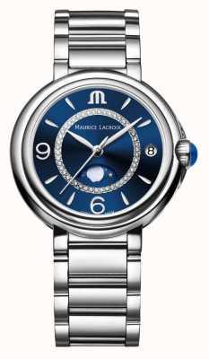 Maurice Lacroix Fiaba Mondphase Damen Quarz Diamant Edelstahl FA1084-SS002-420-1