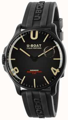 U-Boat Dunkelmond 44mm schwarz ipb | Kautschukband 8464-BLACK
