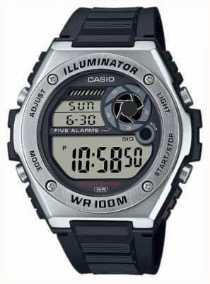 Casio Illuminator | schwarzes Silikonband MWD-100H-1AVEF