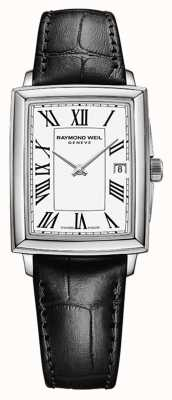 Raymond Weil Frauentokata | schwarzes Lederband | weißes Zifferblatt 5925-STC-00300