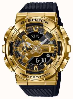 Casio G-Schock | strukturiertes Harzband | goldmetallisches Gehäuse | GM-110G-1A9ER