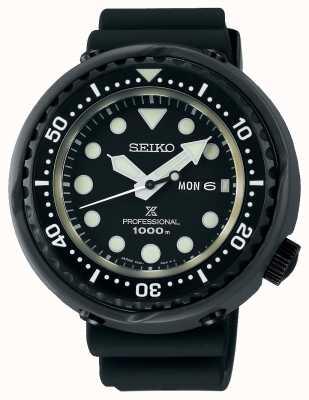Seiko Prospex-Thunfischtaucher für Herren | schwarzes Silikonband | Titan S23631J1