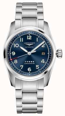 Longines Spirit automatische blaue Zifferblatt Edelstahl 40mm L38104936