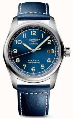 Longines Spirit Blue Zifferblatt 42mm automatisches blaues Leder L38114930