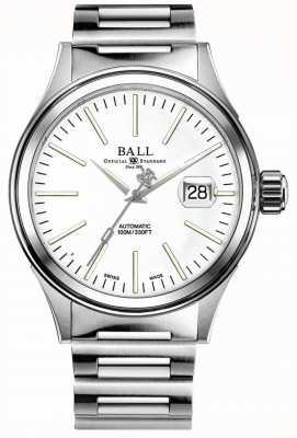 Ball Watch Company Feuerwehrunternehmen | Edelstahlarmband | weißes Zifferblatt NM2188C-S20J-WH