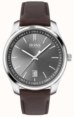 BOSS | Männer | Geschenkset | Schaltung | braunes Lederarmband 1570083