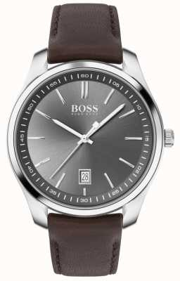 BOSS | Herren | Geschenkset | Schaltung | braunes Lederband 1570083