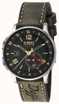 U-Boat 1938 Doppiotempo Dual Time schwarzes Zifferblatt 8400/A
