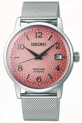Seiko Limited Edition Presage | Stahlgitterarmband | rosa Zifferblatt SRPE47J1