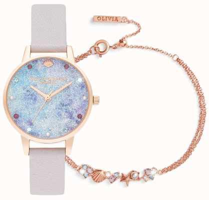 Olivia Burton | unter dem Meer | uhr und armband geschenkset | lila | OBGSET142