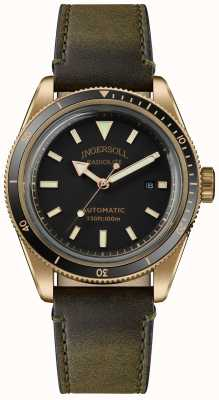 Ingersoll Der Scovill | Uhrenbeweger | olivgrünes Armband schwarzes Zifferblatt I05007