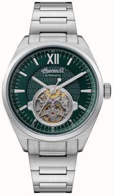 Ingersoll Das Shelby automatische grüne Zifferblatt Edelstahl Armband I10903