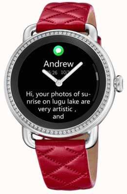 Festina Smartime | rotes Lederband | Farbbildschirm | zusätzliches schwarzes Lederband F50000/3