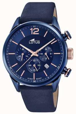 Lotus Blaues Lederarmband für Herren | blaues Chronographenzifferblatt L18681/2