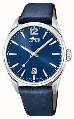 Lotus Blaues Lederarmband für Herren | blaues Zifferblatt L18693/1
