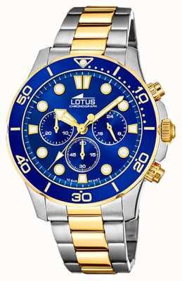 Lotus Zweifarbiges Stahlarmband für Herren | blaues Chronographenzifferblatt L18757/1