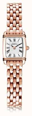 Michel Herbelin Art déco | Damenarmband aus rosévergoldetem Stahl | weißes Zifferblatt | römische Ziffer | 17438/PR08B