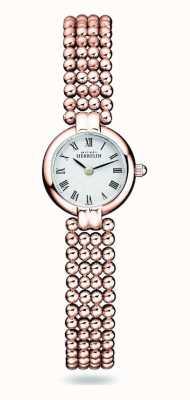Michel Herbelin Perles | Damenarmband aus rosévergoldetem Stahl | weißes Zifferblatt 17433/BPR08