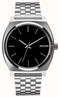 Nixon Zeitmesser | schwarz | Edelstahlarmband | schwarzes Zifferblatt A045-000-00