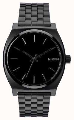 Nixon Zeitmesser | alles schwarz | schwarzes IP Stahlarmband | schwarzes Zifferblatt A045-001-00