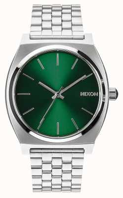 Nixon Zeitmesser | grüner Sonnenstrahl | Edelstahlarmband | grünes Zifferblatt A045-1696-00